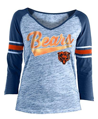 (New Era Chicago Bears Women's NFL End Zone Space Dye 3/4 Sleeve)