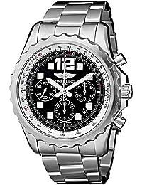 Breitling Men's A2336035/BA68SS Chronospace Auto Black Dial Watch