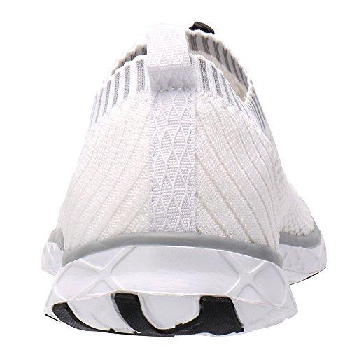 ALEADER Mens Adventure Aquatic Water Shoes White/Gray 13 D(M) US