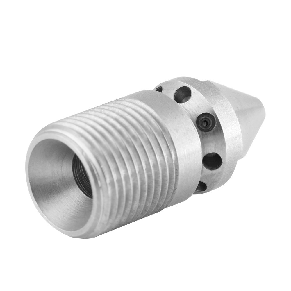 Akozon Stainless Steel SS304 Pressure Sewer Cleaning Pipe Drain Jetter Nozzle 3//8BSP Male Thread