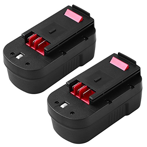 2 Pack HPB18 18V 3.6Ah Ni-Mh Replacement for Black and Decker 18 Volt Battery HPB18-OPE A1718 244760-00 Firestorm FSB18 FS18FL FS180BX FS18BX Cordless Power -