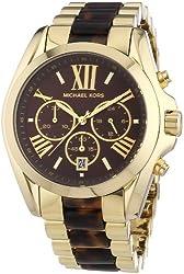 Michael Kors Women's Bradshaw Gold Bracelet Brown Dial Watch MK5696