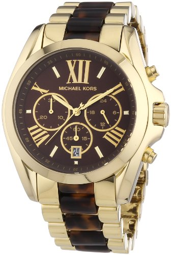 Michael Kors Women's Bradshaw Gold Bracelet Brown Dial Watch MK5696 by Michael Kors