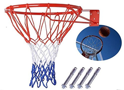 Canasta de baloncesto Net Anillo montado en la pared exterior cesta colgante 45,7cm 45cm