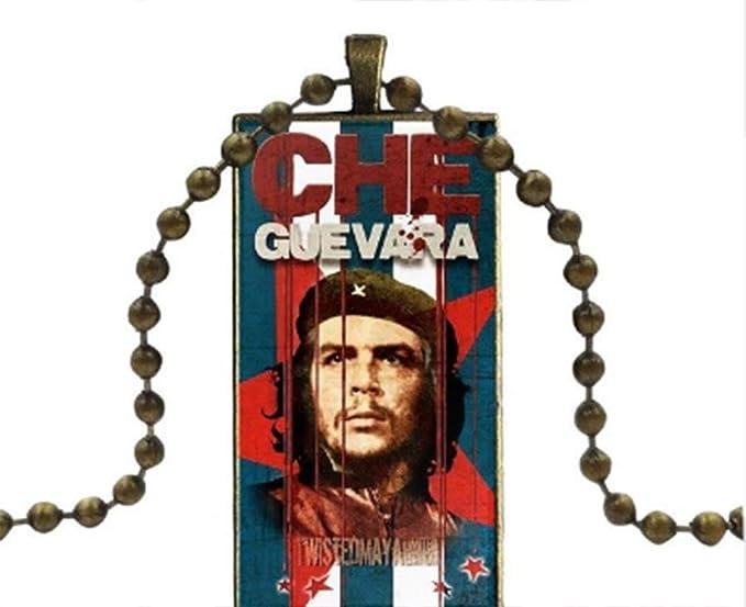 Che Guevara Cuba Anhänger Halskette Rebellen Revolution Biker Halskette Anhänger Accesscube 6 Sport Freizeit
