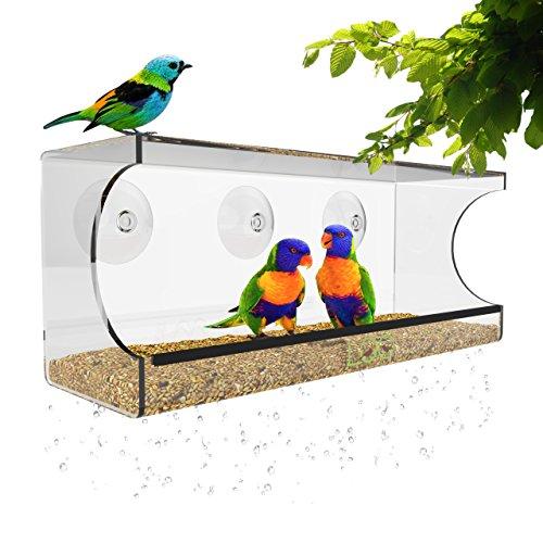 Window Bird Feeder Suction Transparent
