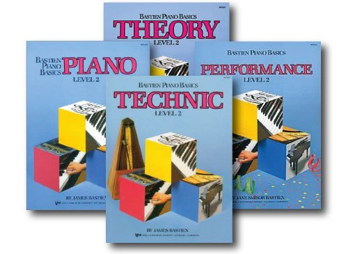 Bastien Piano Basics Level 2 - Learn to Play Four Book Set - Includes Level 2 Piano, Theory, Technic, and Performance Books ()