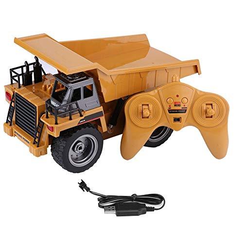 RC 2.4GHz 6CH ダンプカー ダンプトラック エンジニアリング 中型 砂場 建設車両 全機能 ライト リモートコントロール 工事トラック 玩具  USB充電 モデル子供 少年