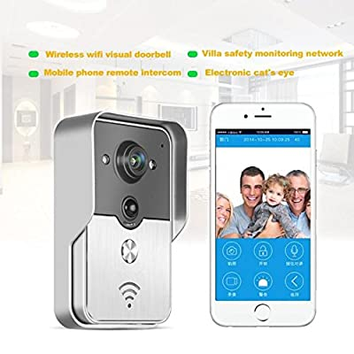 Celendi Wifi Video Door Phone Doorbell Wireless Intercom Enabled Video Doorbell