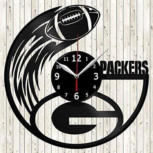 Amazon Com Green Bay Packers Vinyl Record Wall Clock Decor Handmade Unique Design Original Gift Handmade