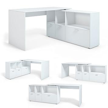 Eckschreibtisch weiß  Schreibtisch Winkelschreibtisch Eckschreibtisch Computertisch ...
