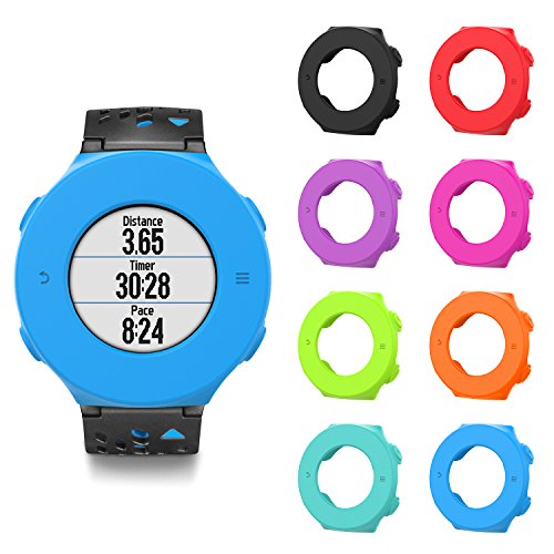 MoKo Case for Forerunner 620 Watch, [8 PACK] Soft Silicone Full Body Protective Cover Shock-proof Case Protector Accessories for Garmin Forerunner 620 Smart Watch, Multi Colors by MoKo