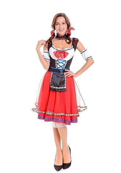 ACHICOO Halloween. Oktoberfest Vestido de traje de mujer ...