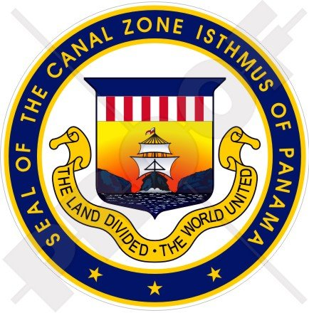 Canal Zone Isthmus of Panama Seal USA American 100mm (4