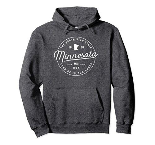 Unisex Warm Minnesota Hoodie Hooded Sweatshirt Women Men Sweater US Small Dark Heather