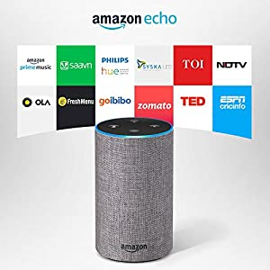 Amazon Echo - Voice control your music, Make calls, Get news, weather & more, Powered by Dolby – Grey