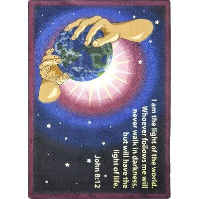 Faith Based I Am The Light Kids Rug Rug Size: 7'8'' x 10'9'' by Joy Carpets