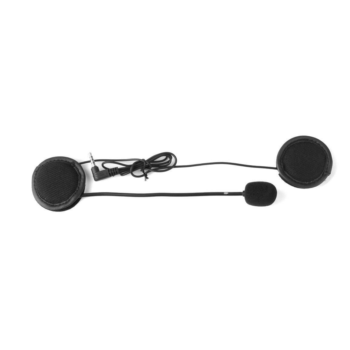 V6 Interphone Universal del Receptor de Cabeza del intercomunicador del Casco Clip para el Dispositivo Bluetooth de la Motocicleta Micr/ófono Altavoz Auricular V4