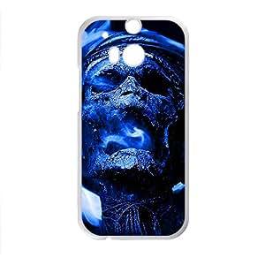 Hope-Store Blue Skull Custom Protective Hard Phone Cae For HTC One M8