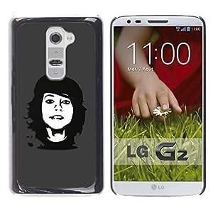 LECELL -- Funda protectora / Cubierta / Piel For LG G2 D800 D802 D802TA D803 VS980 LS980 -- Che Rebel Girl --