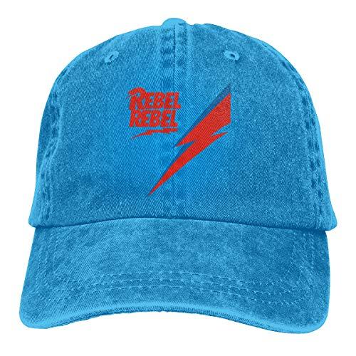 Herbert13 David BowieAdjustable Printing Snapback Unisex Adult Baseball Caps Denim Hats Black