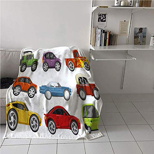 Louis Classic Sofa - Suchashome Boys Room Lightweight Blanket,Race Cars Monster Truck Classics Urban Jeep Artistic Speed Automobiles Print,Soft Blanket Microfiber,Blanket for Sofa Couch Bed 51