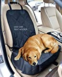 Aincrso Dog Car Seat Cover Front Pet Seat Cover Dog Car Seat Two-Sided Waterproof and Non-slip Durable Pet Car Carrier Hammock With Seat Anchors.Padded 70g Filler.Black.