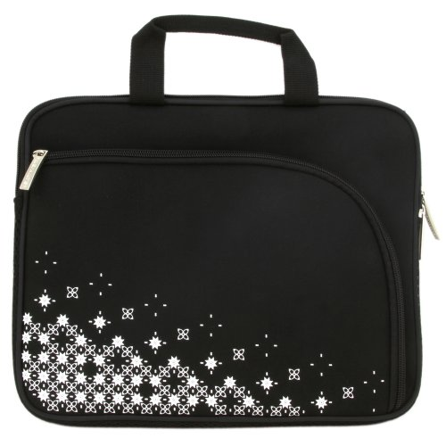 Filemate 3FMNG810BK10-R Imagine 10-Inch Netbook/Tablet Carrying Case - Black with Pattern