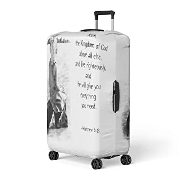 Amazon.com Pinbeam Luggage Cover Scripture Pencil Drawing