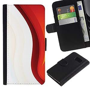 Stuss Case / Funda Carcasa PU de Cuero - Minimalista Patrón - Samsung Galaxy S6