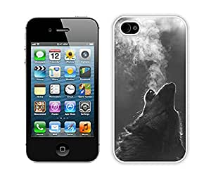 Winter Wolf Howling White Fantastic Style Design iPhone 4S Case