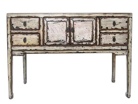 China style shabby chic petite bureau tiroirs en pin blanc
