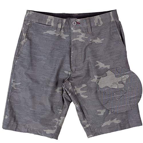 Mens Hybrid Shorts Quick Dry Lightweight Stretch Boardshorts Walkshort-(Army-36)
