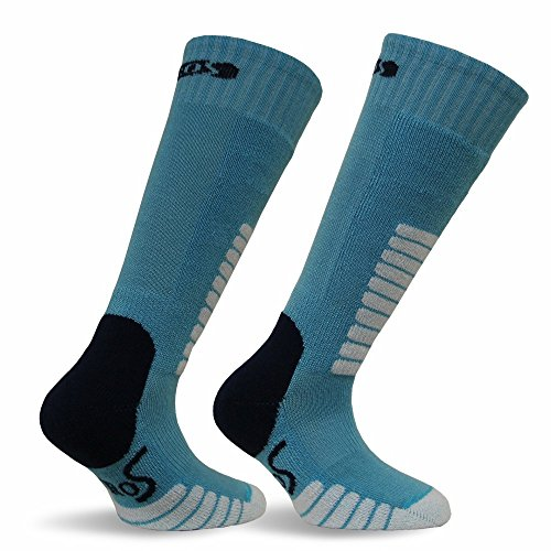 Eurosocks Unisex Child Ski Supreme Junior Sock, Turquoise, (Jr Kids Ski Boot)