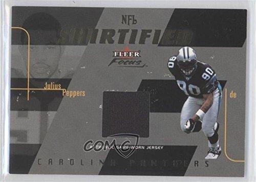 Julius Peppers #/175 (Football Card) 2003 Fleer Focus - NFL Shirtified - Gold 175 Jerseys [Memorabilia] -