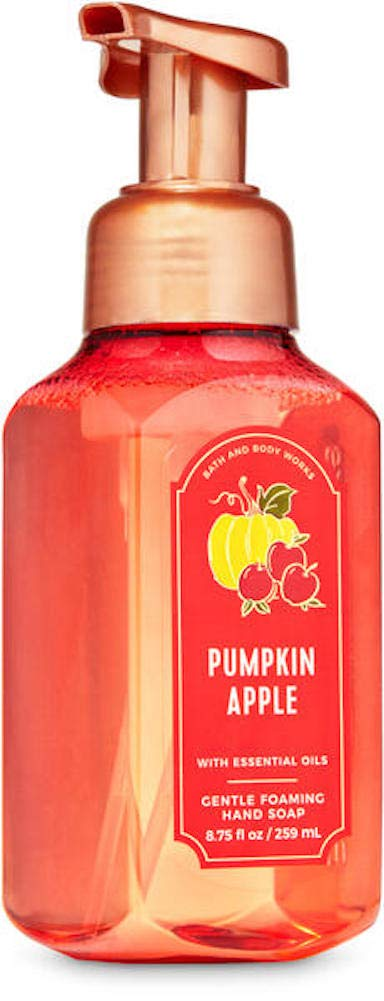 White Barn Candle Company Bath and Body Works Gentle Foaming Hand Soap w/Essential Oils- 8.75 fl oz - Fall 2020 - Many Scents! (Pumpkin Apple - Apples Pumpkin & Clove)