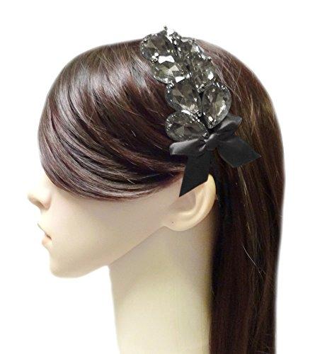 TdZ Fashion Headband - Crystal Gem Victory Goddess & Ribbon (Black) (Victory Goddess)