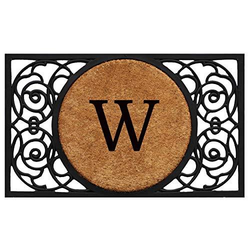 Calloway Mills 180031830W Armada Circle Monogram Doormat, 18 x 30 Letter W