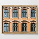 Society6 Serving Tray with handles, 18'' x 14'' x 1 3/4'', Eight Windows by errne