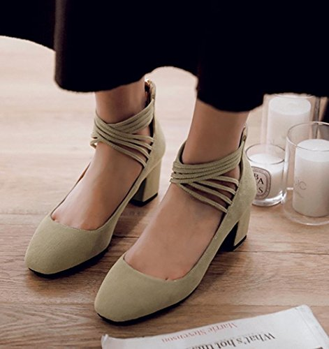 cream green MissSaSa Donna Vintage Scarpe qwqO1CUp