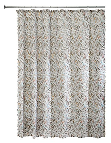 InterDesign Butterfly Fabric Shower Curtain 72 X Taupe