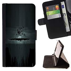 Momo Phone Case / Flip Funda de Cuero Case Cover - Oscuro Árbol de Goth;;;;;;;; - HTC One Mini 2 M8 MINI