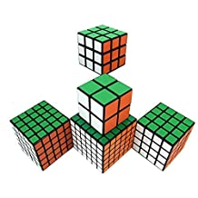 The Speed Puzzle Magic Cube Set Puzzle Cube Pack (5 in Pack of 2x2, 3x3, 4x4, 5x5, 6x6)