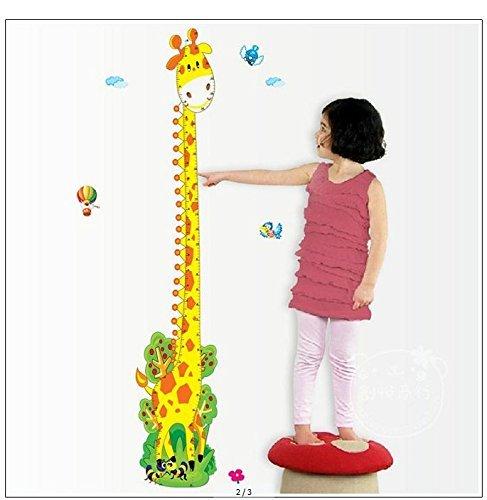 Removable Adorable Giraffe Height Chart Growth Chart Wall Sticker Wall Decor Wall Decal for Kids Children Room