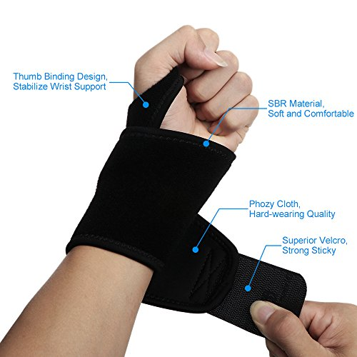 Divine-Shield-Multi-Functional-Sports-Wrist-Brace-Fitted-Right-or-Left-Thumb-Stabilizer-Support-for-Badminton-Volleyball-Tennis-Basketball-and-Weightlifting-Bowling-Accessories-One-Size-Fits-Most