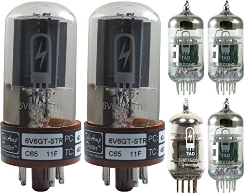 Tube Complement for Fender Princeton Reverb II, Tube Amp Doctor brand tubes