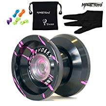 Original Magicyoyo K9 Top Refers to the King Unresponsive Yoyo Set, Alloy, Professional Toy, Black with Rose