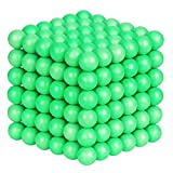 ATESSON Magnetic Sculpture Balls Intellectual Office Toys Anxiety Stress Relief Killing Time Puzzle Creative Educational Toys for Kids Adults (Luminous,5mm)