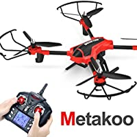Metakoo Drone with Camera RC Quadcopter Altitude Hold Remote Control Helicopter Headless Mode 3D Flip Helicopter with Remote Control (Red)