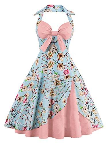 Kleid knielang pink